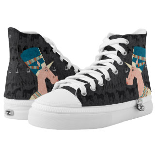 Queen Nefertiti Unicorn Printed Shoes