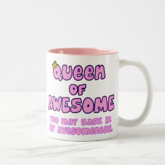 Queen of Awesome Two-Tone Coffee Mug