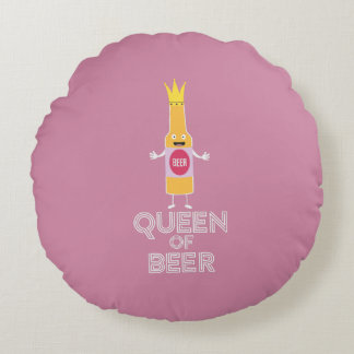 Queen of Beer Zh80k Round Cushion