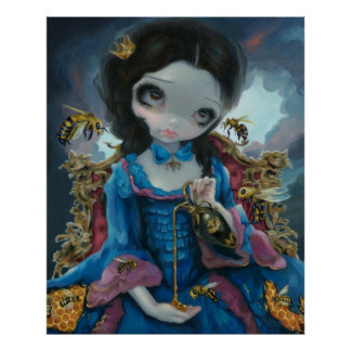 Queen of Bees ART PRINT Rococo Pop Surrealism