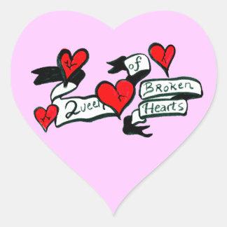 Queen Of Broken Hearts Sticker