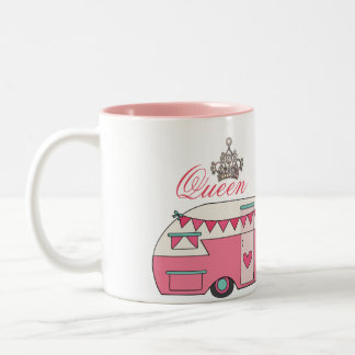 Queen of Camping Two-Tone Coffee Mug