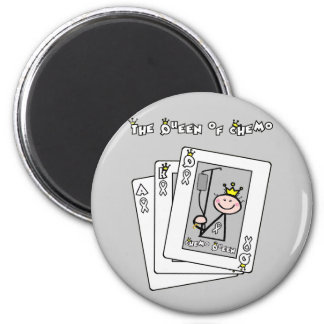 Queen of Chemo 6 Cm Round Magnet
