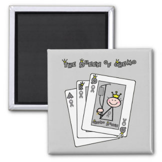 Queen of Chemo Brain Cancer / Tumor Square Magnet