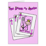 Queen of Chemo - Breast Cancer Pink Ribbon Greeting Card