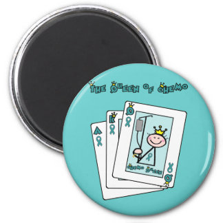 Queen of Chemo - Cervical Cancer 6 Cm Round Magnet