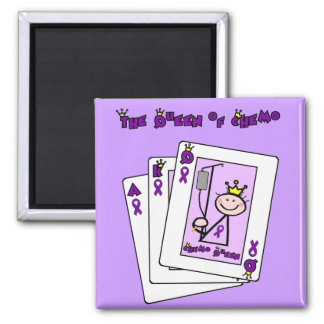 Queen of Chemo Hodgkins Lymphoma Square Magnet