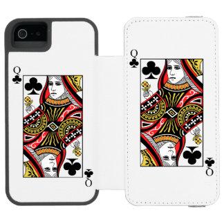 Queen of Clubs Incipio Watson™ iPhone 5 Wallet Case