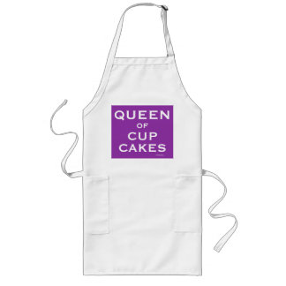 Queen of Cup Cakes Funny Female Baking Name Long Apron
