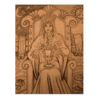 Queen Of Cups - Tarot Card Postcard