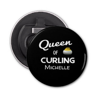 Queen of Curling Bottle Opener/Magnet Bottle Opener