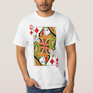 Queen Of Diamonds Playing Card T-Shirt