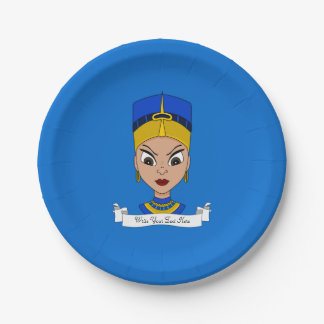 Queen of Egypt cartoon Paper Plate