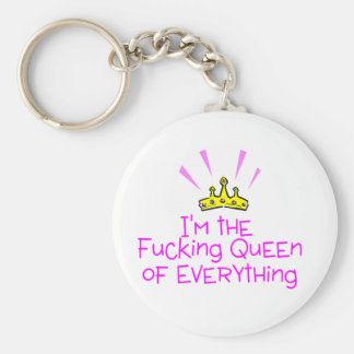 Queen of Everything Key Ring