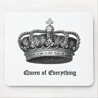 Queen of Everything Royal Vintage Crown Mouse Pad