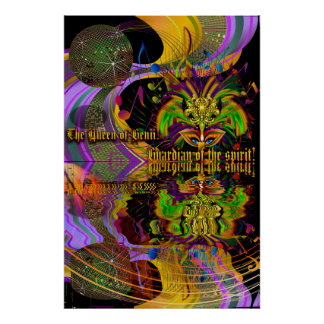 Queen of Genii-Guardian of the spirit Pick Size Poster