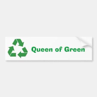 """""""Queen of Green"""" Bumper Sticker"""