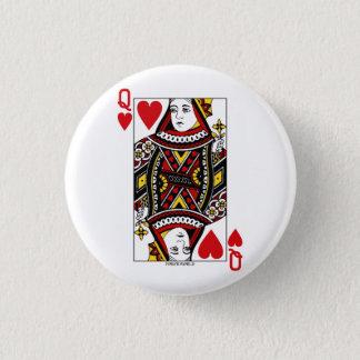 Queen of Hearts 3 Cm Round Badge