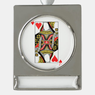 Queen of Hearts - Add Your Image Silver Plated Banner Ornament