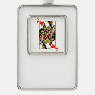 Queen of Hearts - Add Your Image Silver Plated Framed Ornament