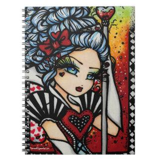 Queen of Hearts Alice Girl Fairy Fantasy Notebook