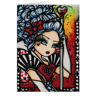 Queen of Hearts Alice Wonderland Fantasy Card