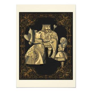 Queen of Hearts Alice Wonderland Invitation Card