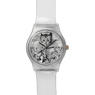 Queen of Hearts and Cheshire cat Watch
