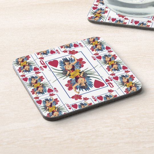 Queen of Hearts and Flowers Coaster