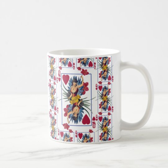 Queen of Hearts and Flowers Coffee Mug