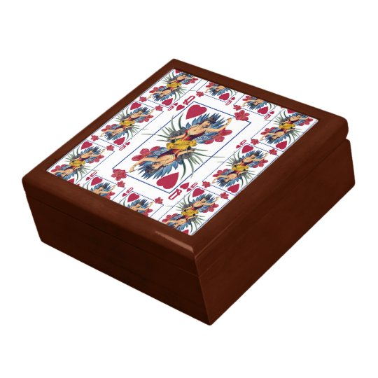 Queen of Hearts and Flowers Gift Box