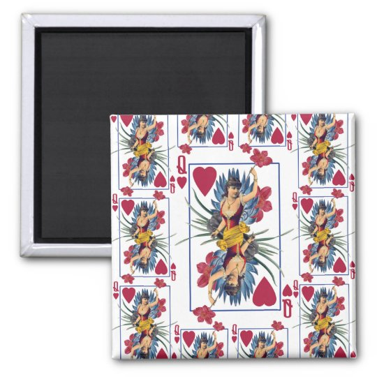 Queen of Hearts and Flowers Magnet