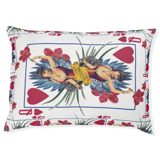 Queen of Hearts and Flowers Pet Bed