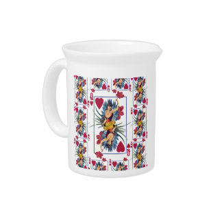 Queen of Hearts and Flowers Pitcher