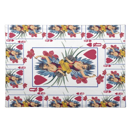 Queen of Hearts and Flowers Placemat
