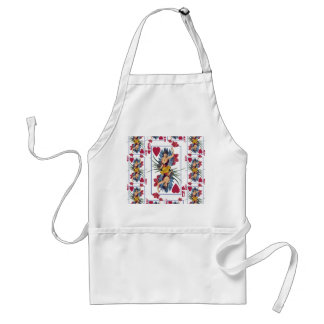 Queen of Hearts and Flowers Standard Apron