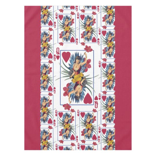 Queen of Hearts and Flowers Tablecloth