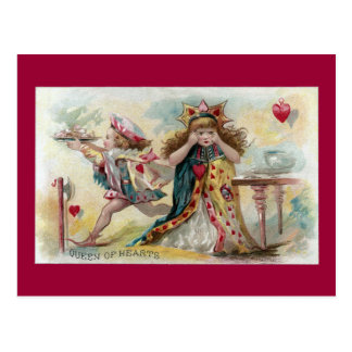 Queen of Hearts Bemoans Stolen Tarts Postcard