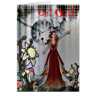 Queen of Hearts Break Up Card