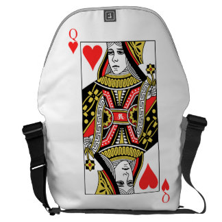 Queen of Hearts Courier Bags