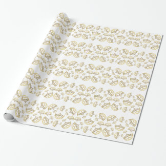 Queen of Hearts Crown wrapping paper