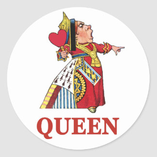 Queen of Hearts From Alice in Wonderland Classic Round Sticker