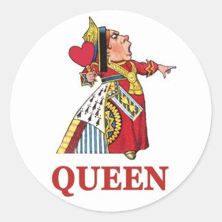 Queen of Hearts From Alice in Wonderland Round Sticker