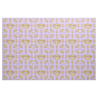 Queen of Hearts gold crown tiara periwinkle fabric