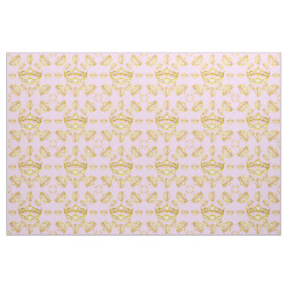 Queen of Hearts gold crown tiaras lilac fabric