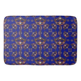 Queen of Hearts Gold Crowns tiaras iris bath mat