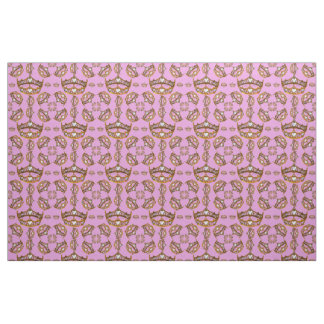 Queen of Hearts gold crowns & tiaras lilac fabric