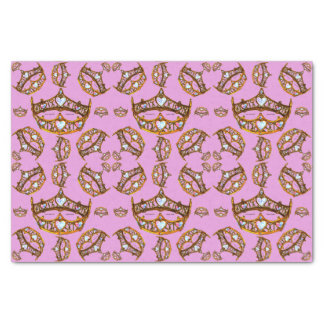 Queen of Hearts Gold Crowns Tiaras pink lilac Tissue Paper