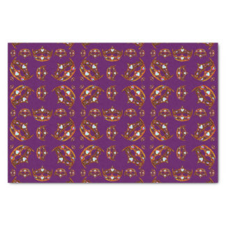 Queen of Hearts Gold Crowns Tiaras purple tissue Tissue Paper