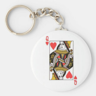 Queen of Hearts Key Ring